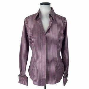 Thomas Pink Striped French Cuff Dress Shirt #87